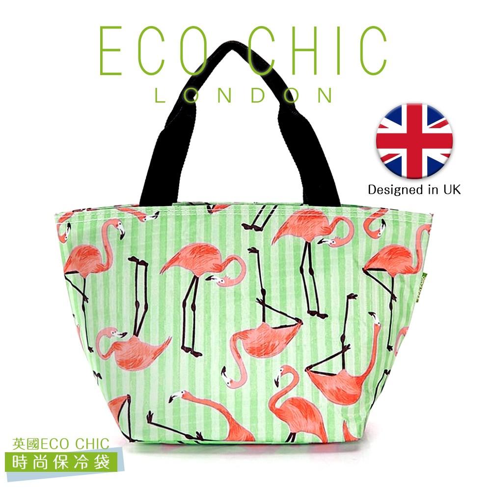 英國ECO CHIC時尚保冷/保溫/保鮮袋-紅鶴X2