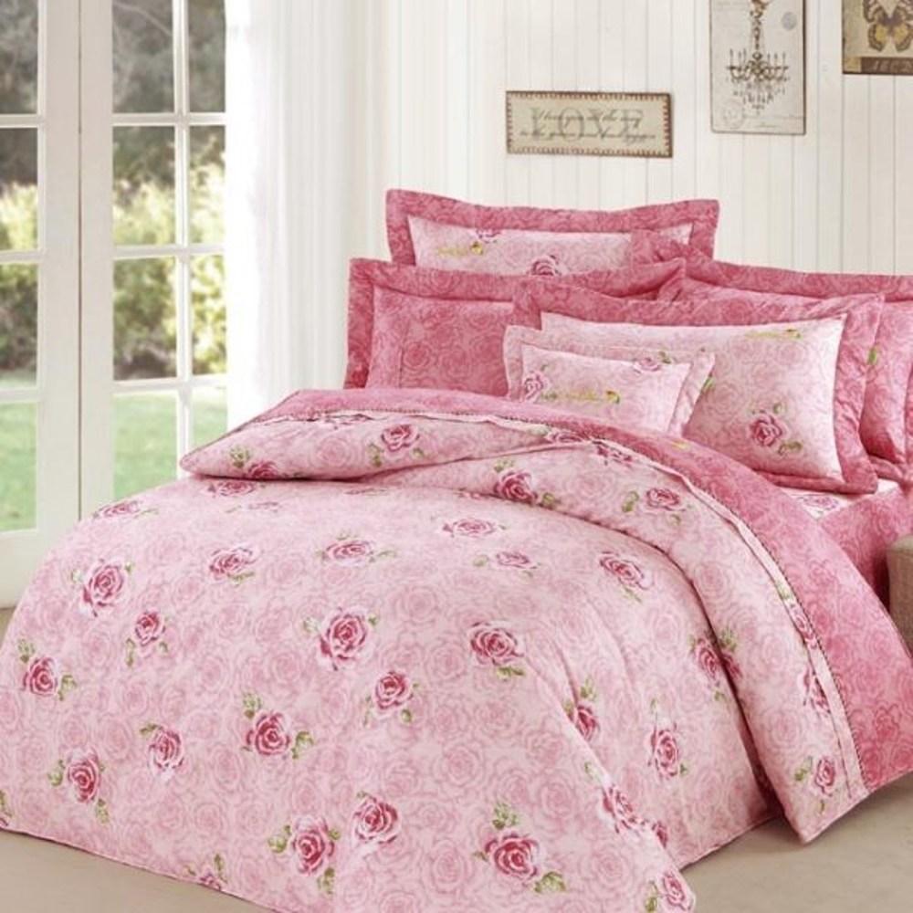Arnold Palmer雨傘牌 玫瑰濃情-精梳棉床罩雙人七件組
