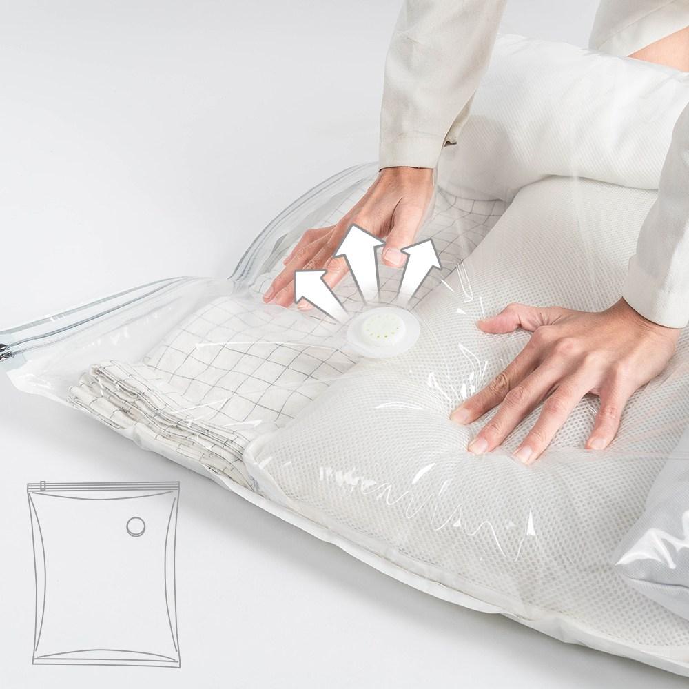 樂嫚妮 3入新一代免抽氣手壓真空收納壓縮袋/防塵袋-80X100cm