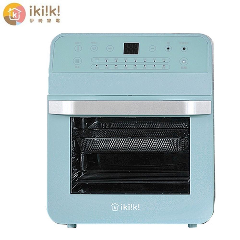 伊崎家電 12L智能氣炸烤箱-綠(IK-OT3201)