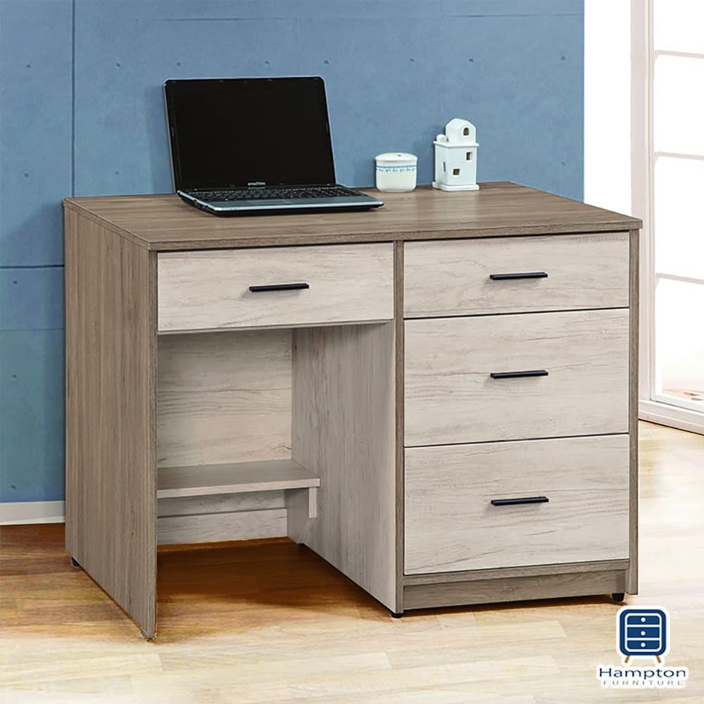 【Hampton 漢汀堡】萊克雙色3.5尺書桌
