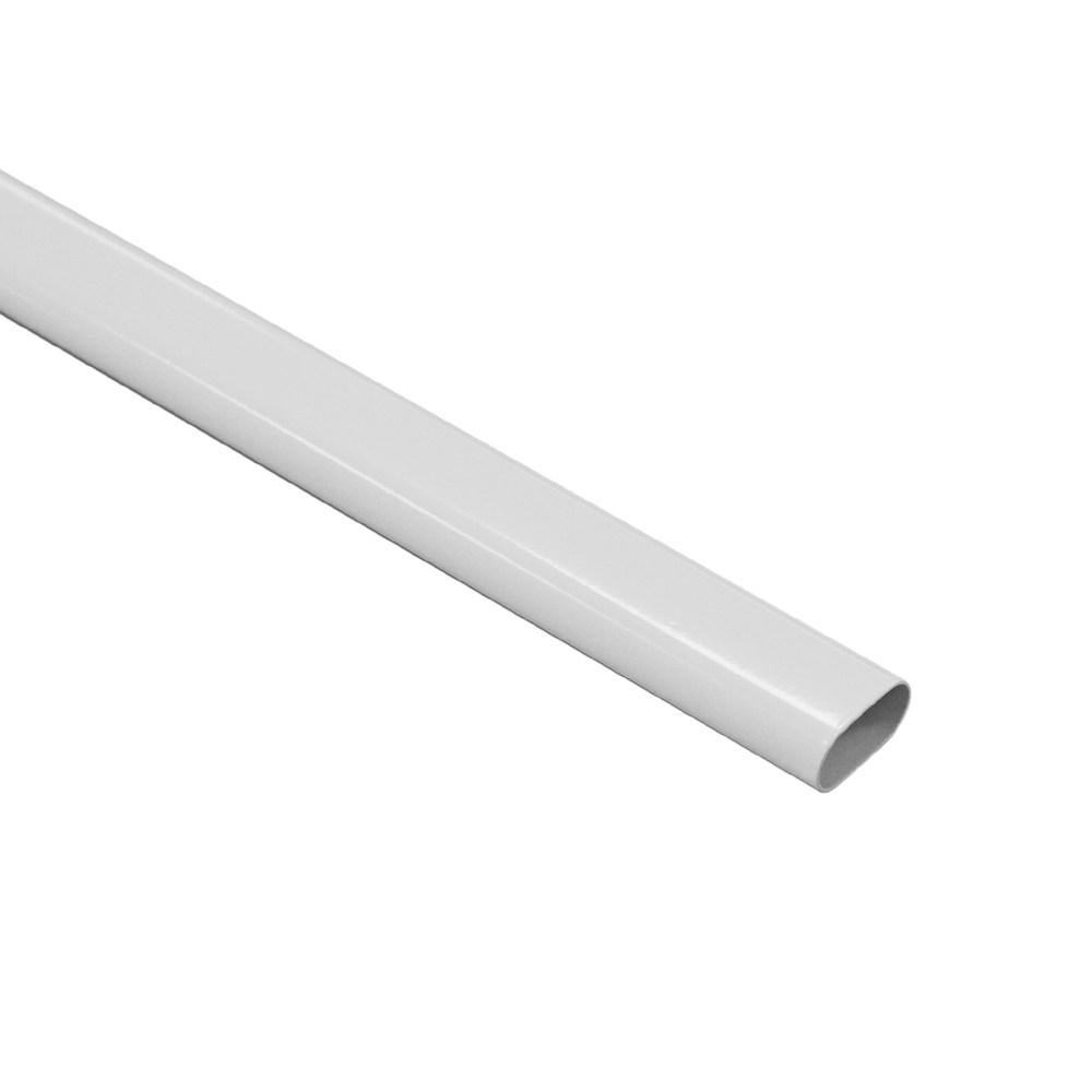 橢圓鐵管白色15mmx30mmx1800mm