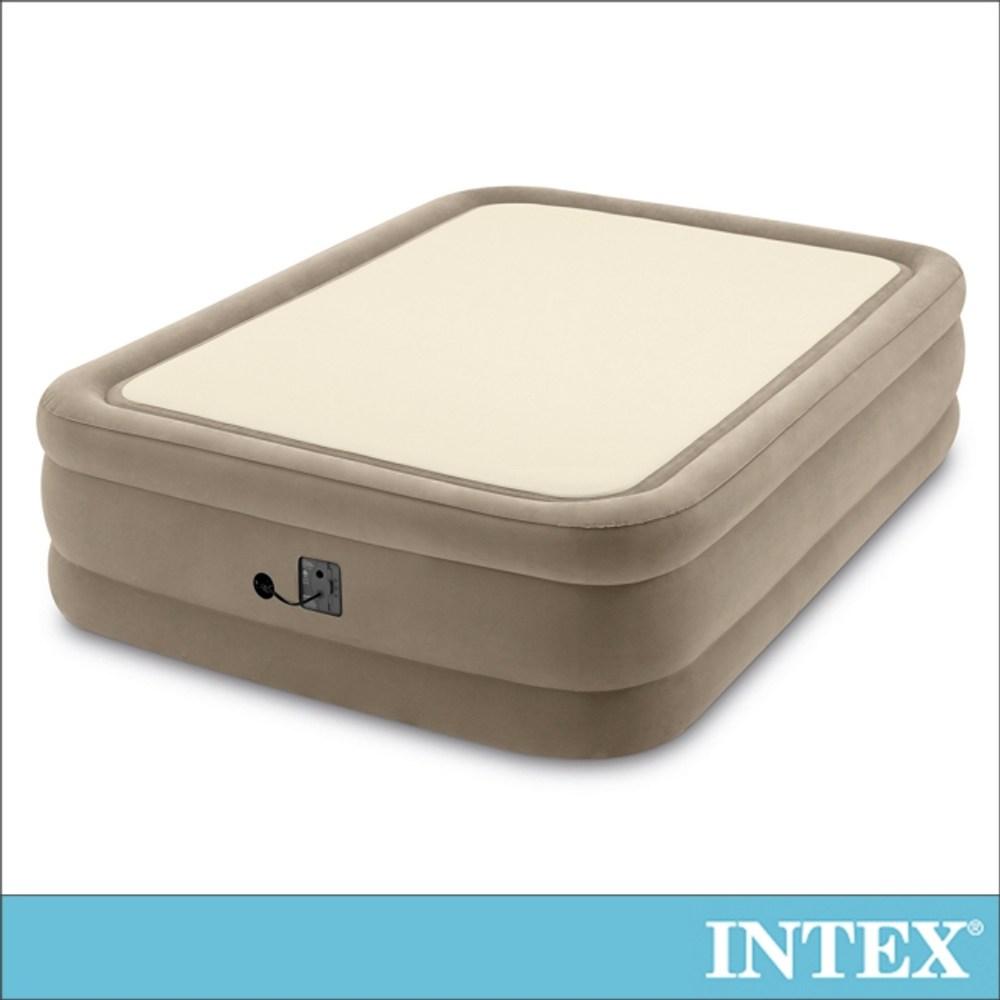 INTEX全平面涼感雙氣室雙人充氣床152cm(64477)
