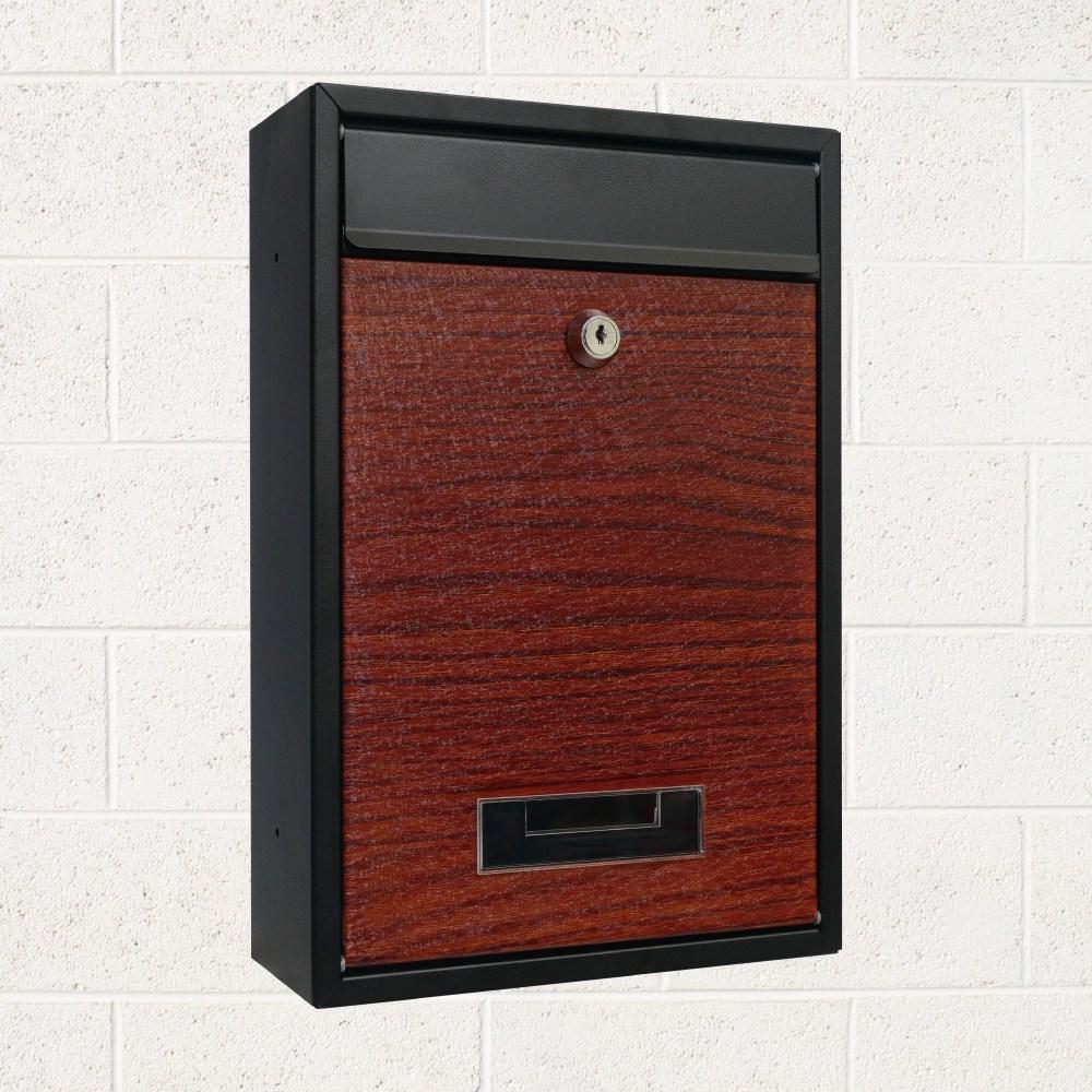 日式雙色木紋信箱