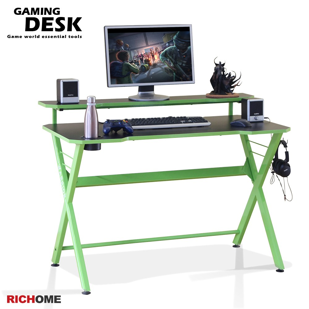 【RICHOME】電競遊俠電腦桌(3色)紅色