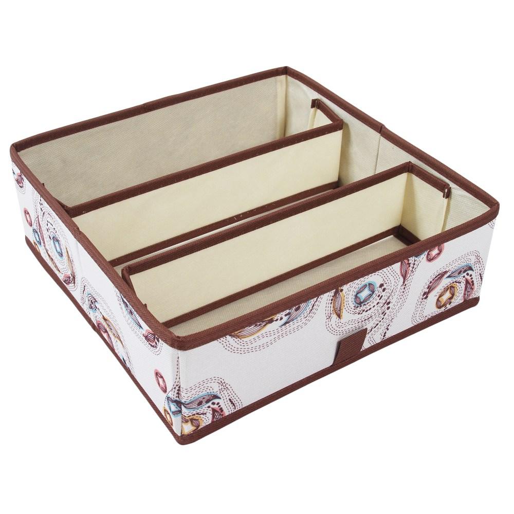 艾米莉三格抽屜盒 28.5x28.5x19.3cm