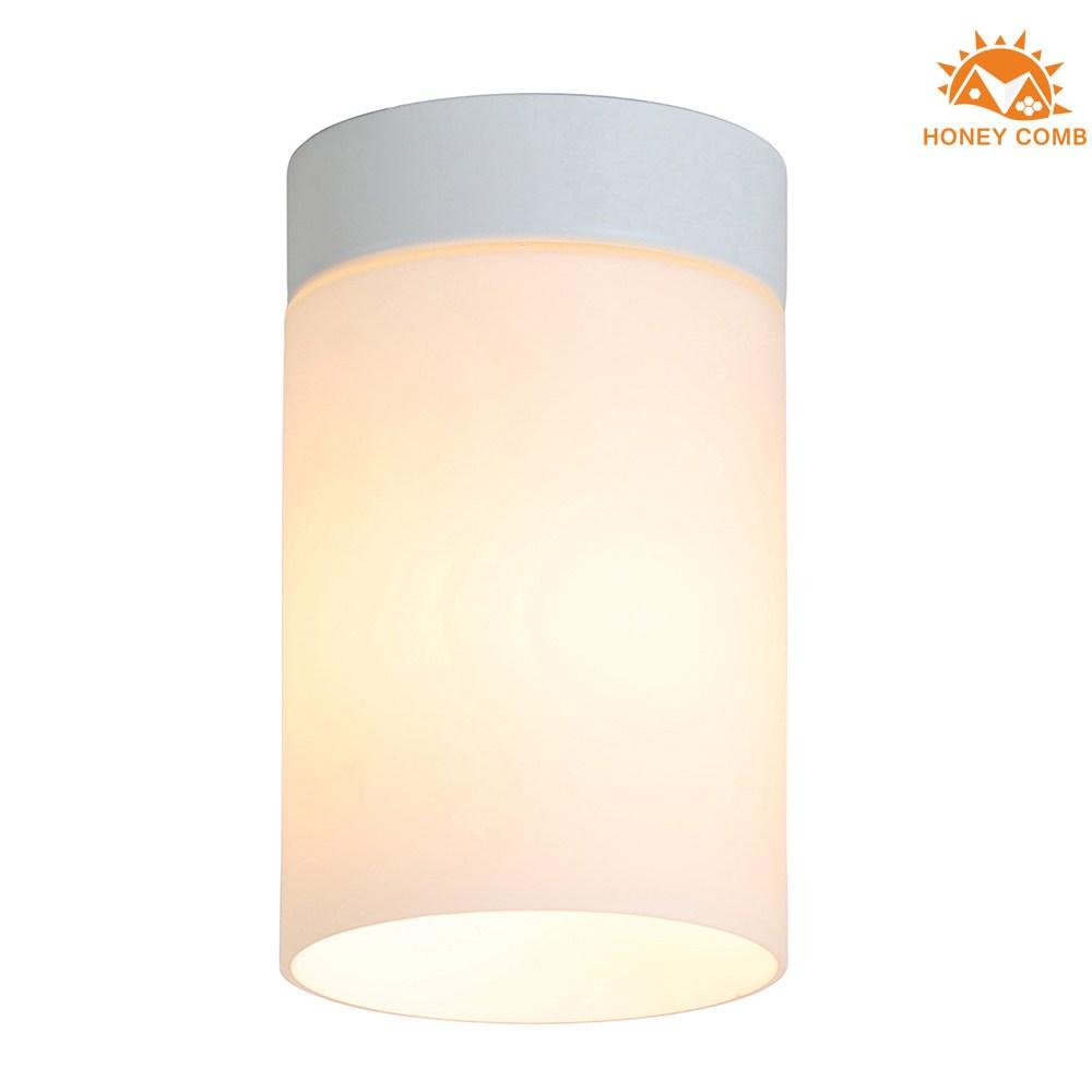【Honey Comb】北歐風簡約白玉玻璃玄關單吸頂燈白色(KC2107)