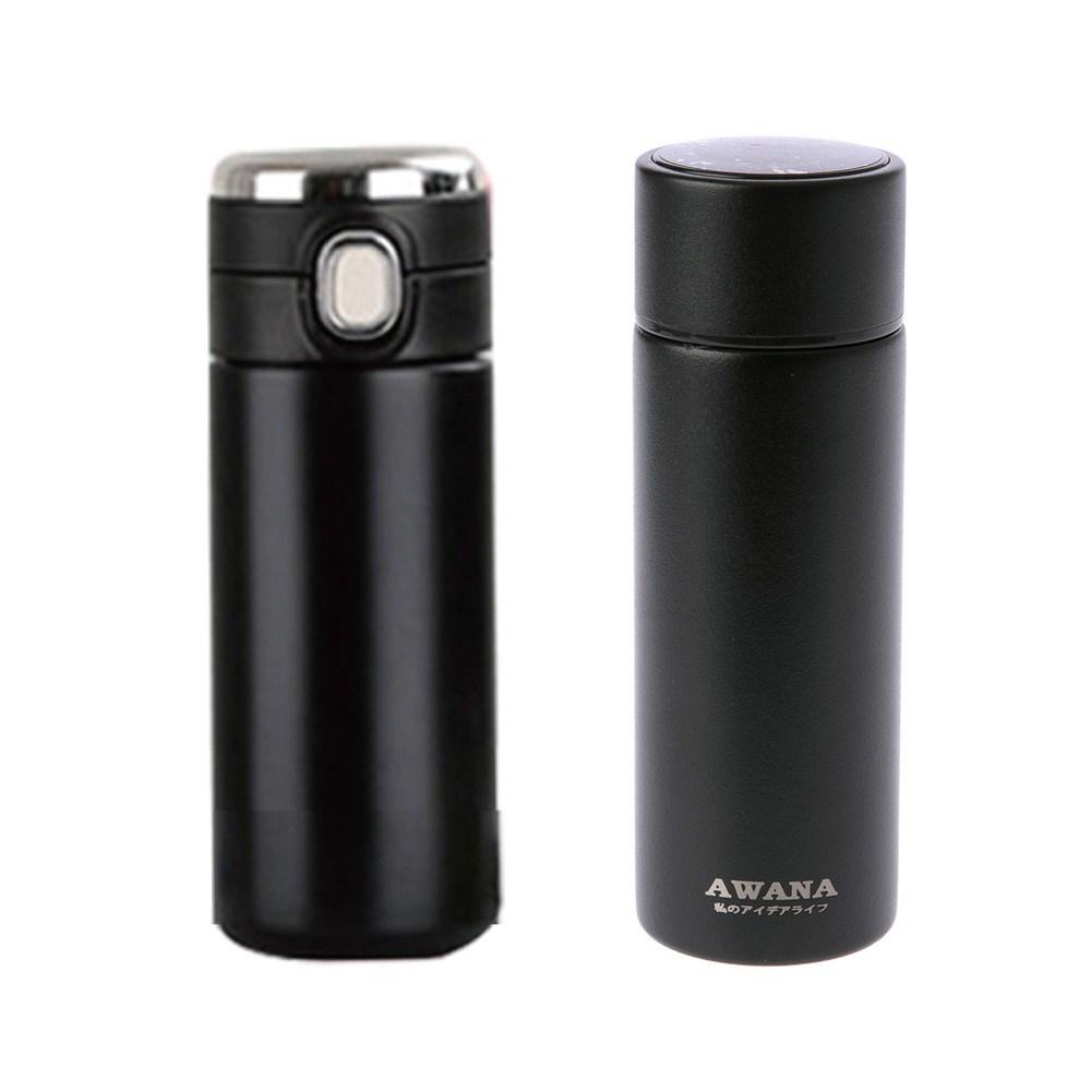 (組)AWANA雙層316不鏽鋼智能保溫杯120ml+納森雙層316不鏽鋼智能彈跳保溫杯