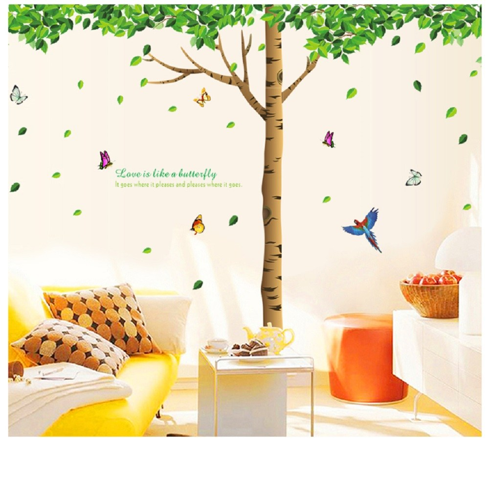高級無痕環保壁貼 鳥語花香 60x90cm ABC組合款 WTB-720