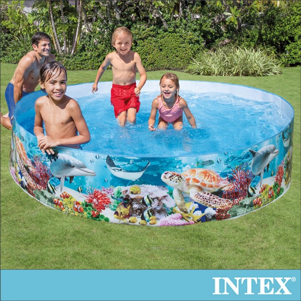 INTEX免充氣幼童戲水游泳池244x46cm(58472)
