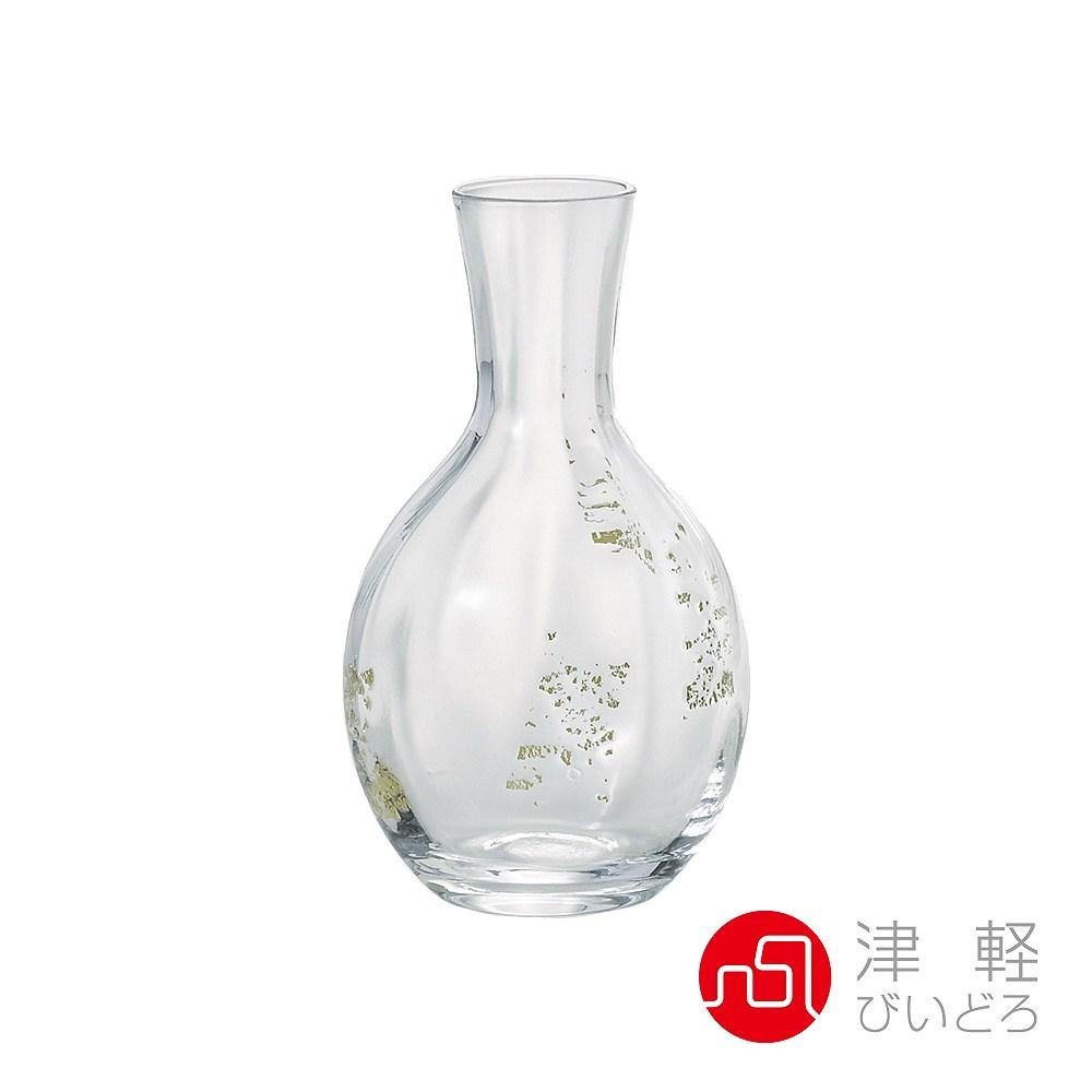 日本津輕 德利金箔清酒壺-共2色透明