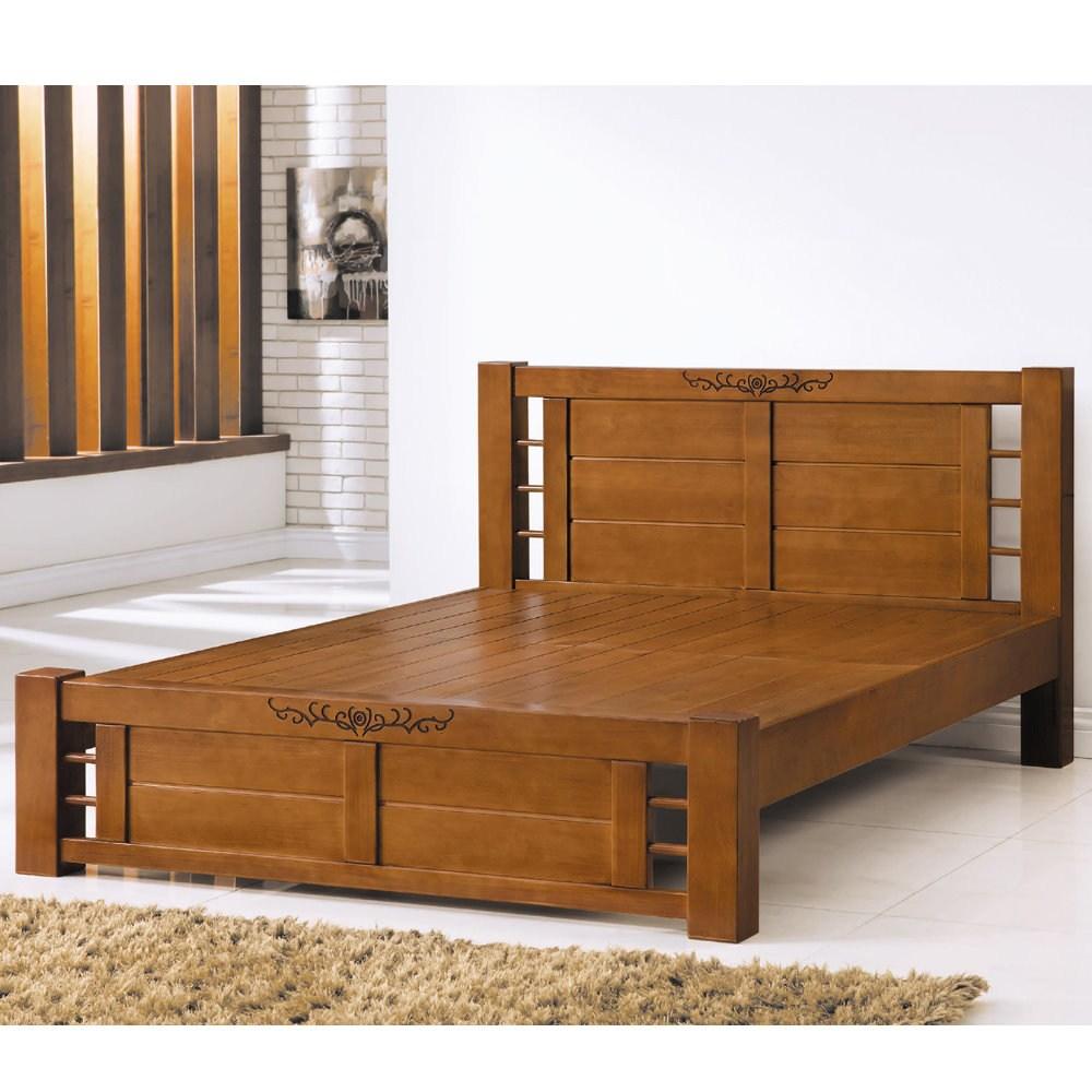 【MUNA 家居】阿普頓實木6尺雙人加大床台(雙人加大床)