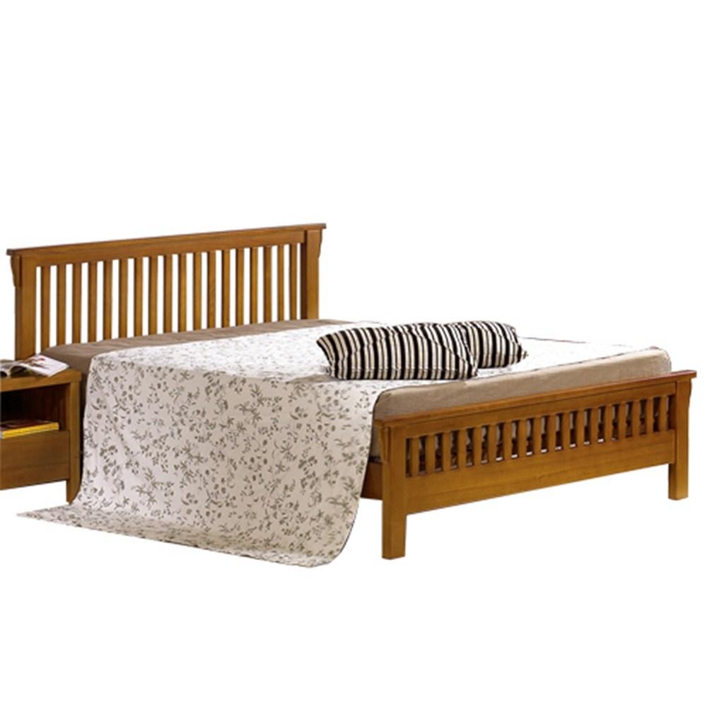魯娜5尺柚木雙人床