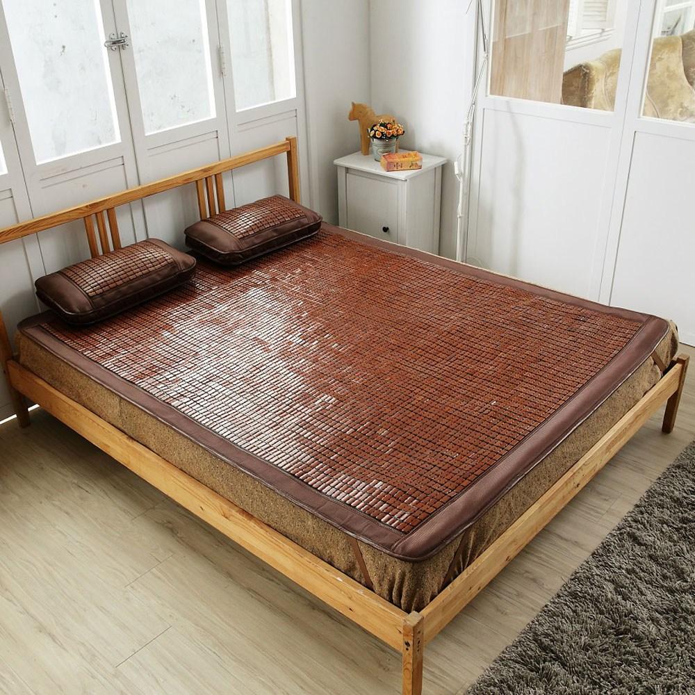 竹間涼感冰絲兩用碳化麻將竹雙人蓆150x190cm
