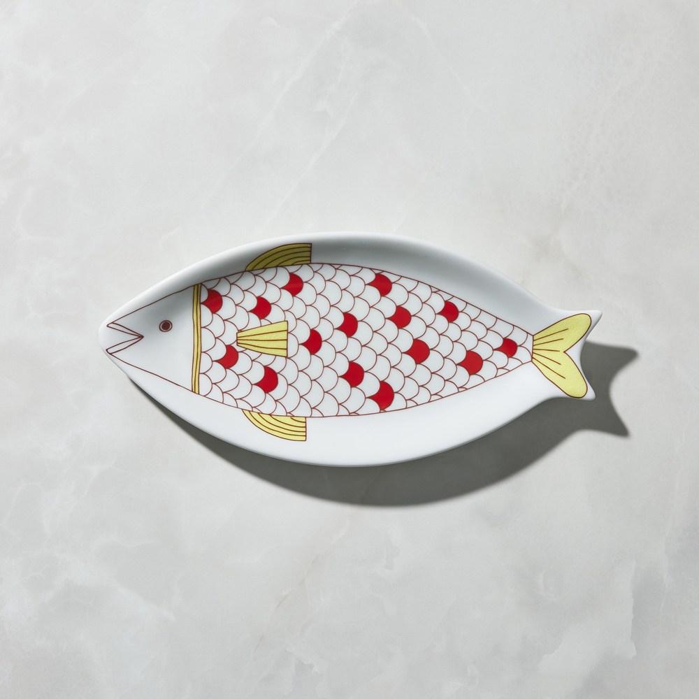 【有種創意】日本晴九谷燒 - 魚大盤 - 網紋