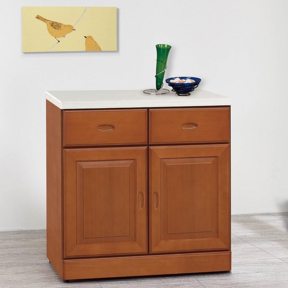 艾德里樟木色2.7尺碗盤櫃