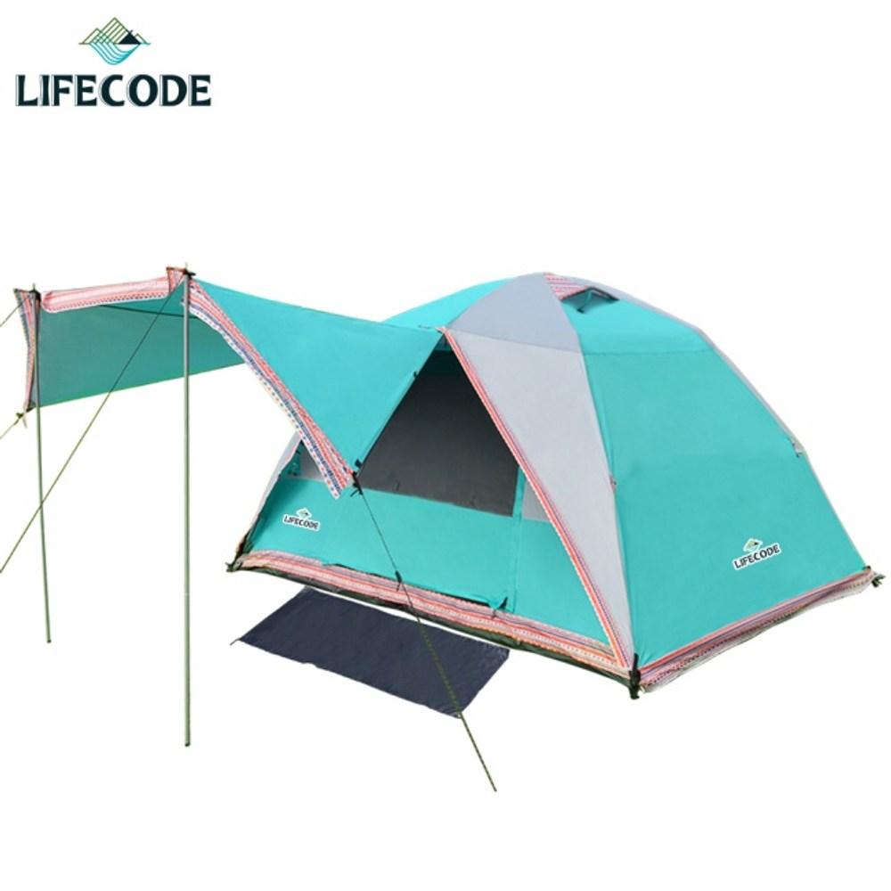 LIFECODE《立可搭》5-6人全罩式帳篷-高183cm(水藍色)