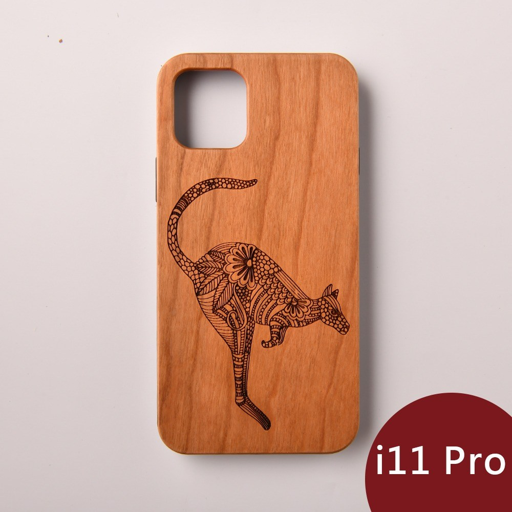 Woodu 木製手機殼 勇者跳躍 iPhone 11 Pro適用