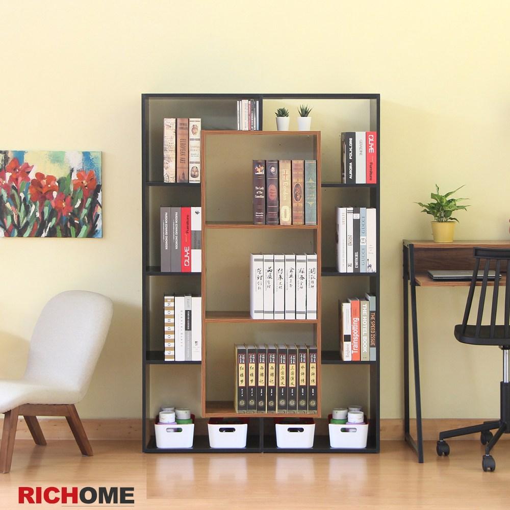 【RICHOME】里昂現代雙面隔間置物櫃