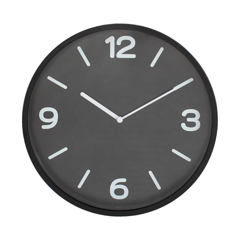 Lovel 30cm 黑色黎明簡約膠框壁掛時鐘(P300B-BK)