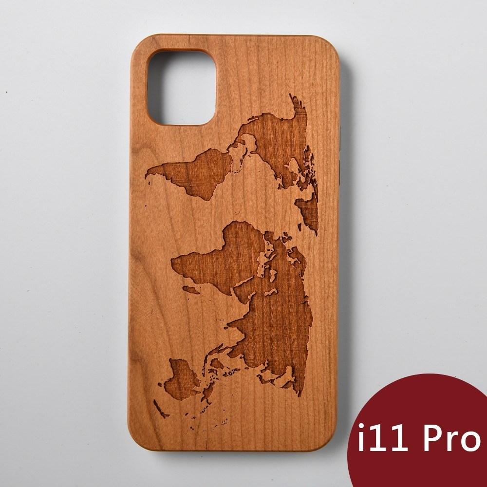 Woodu 木製手機殼 在世界旅行 iPhone 11 Pro適用