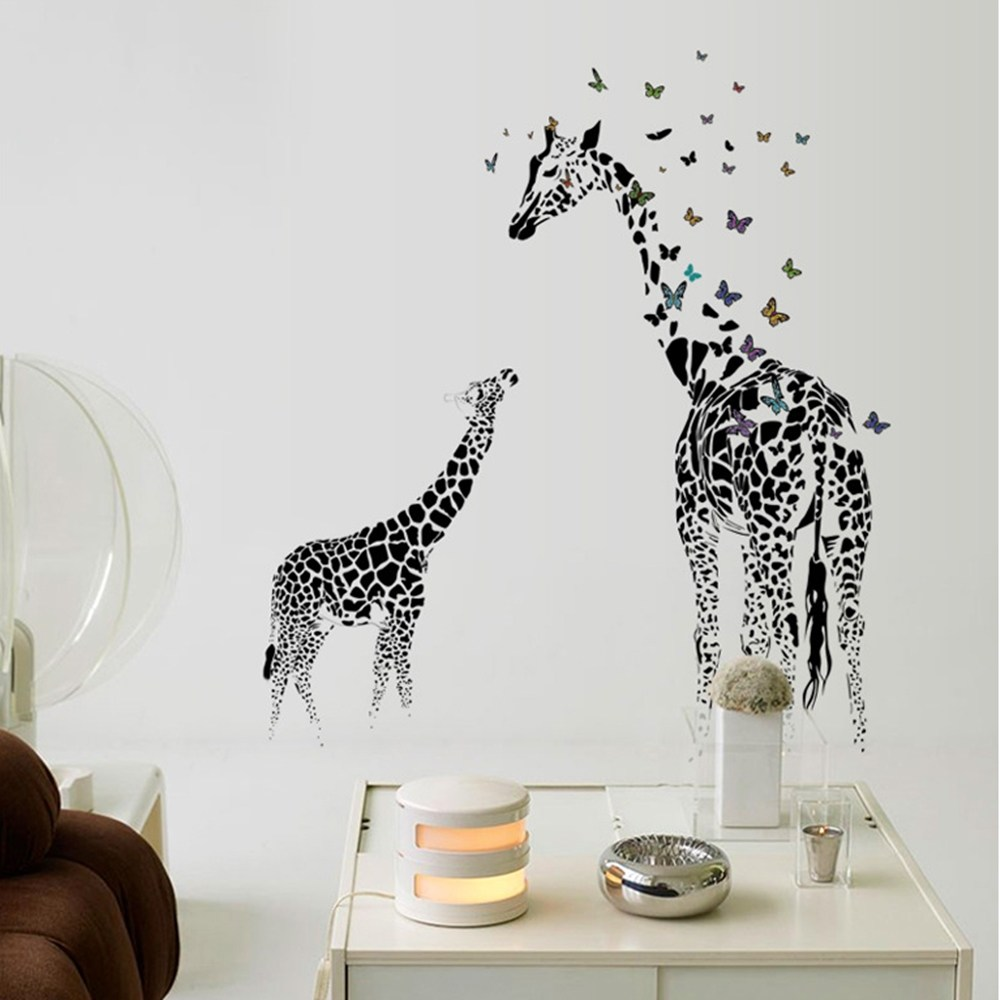 【Loviisa 非洲長頸鹿】無痕壁貼 壁紙