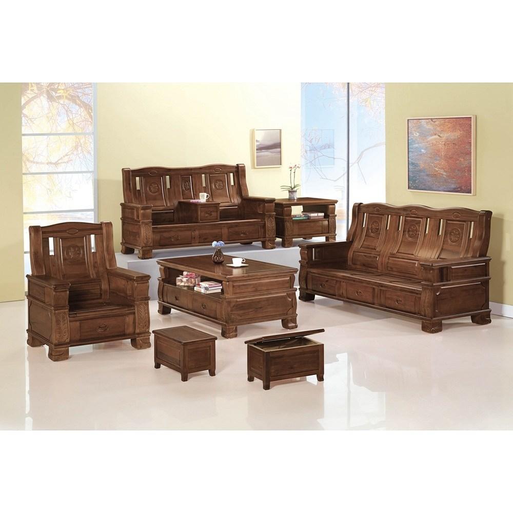香樟實木板椅組