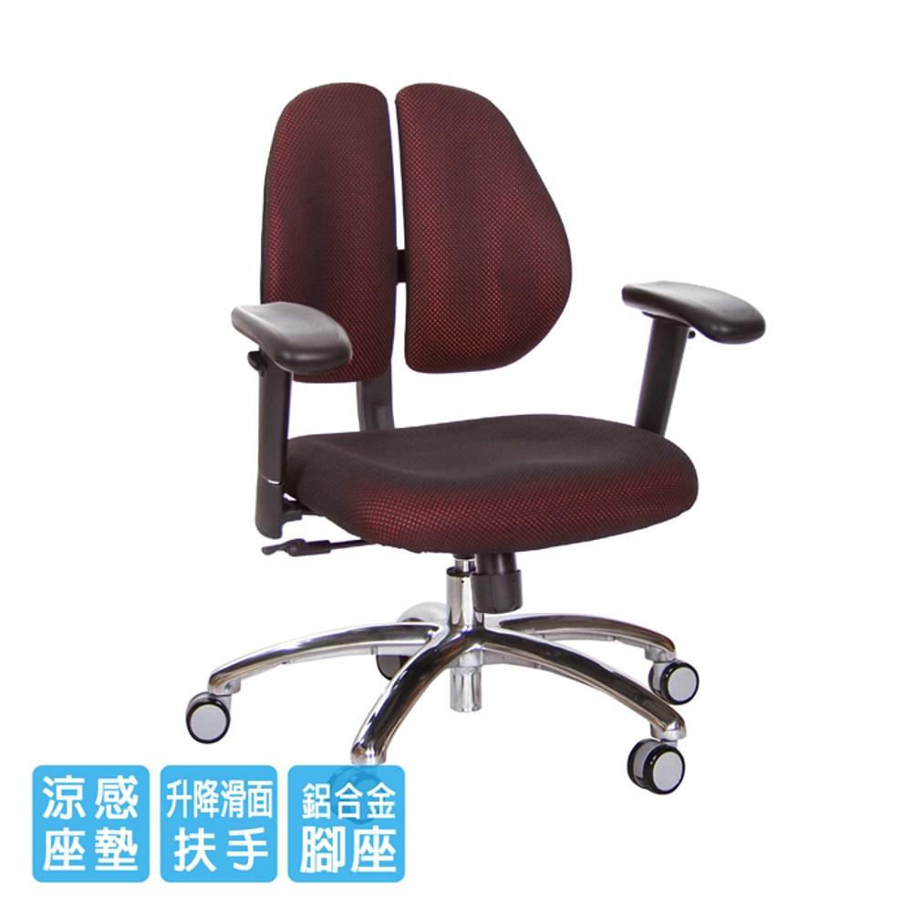 GXG 短背涼感 雙背椅 (鋁腳/升降滑面扶手)TW-2992 LU6#訂購備註顏色