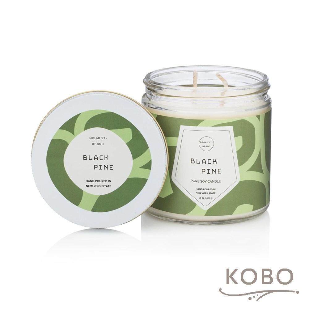 【KOBO】 美國大豆精油蠟燭-黑松野林-450g/可燃燒65hr