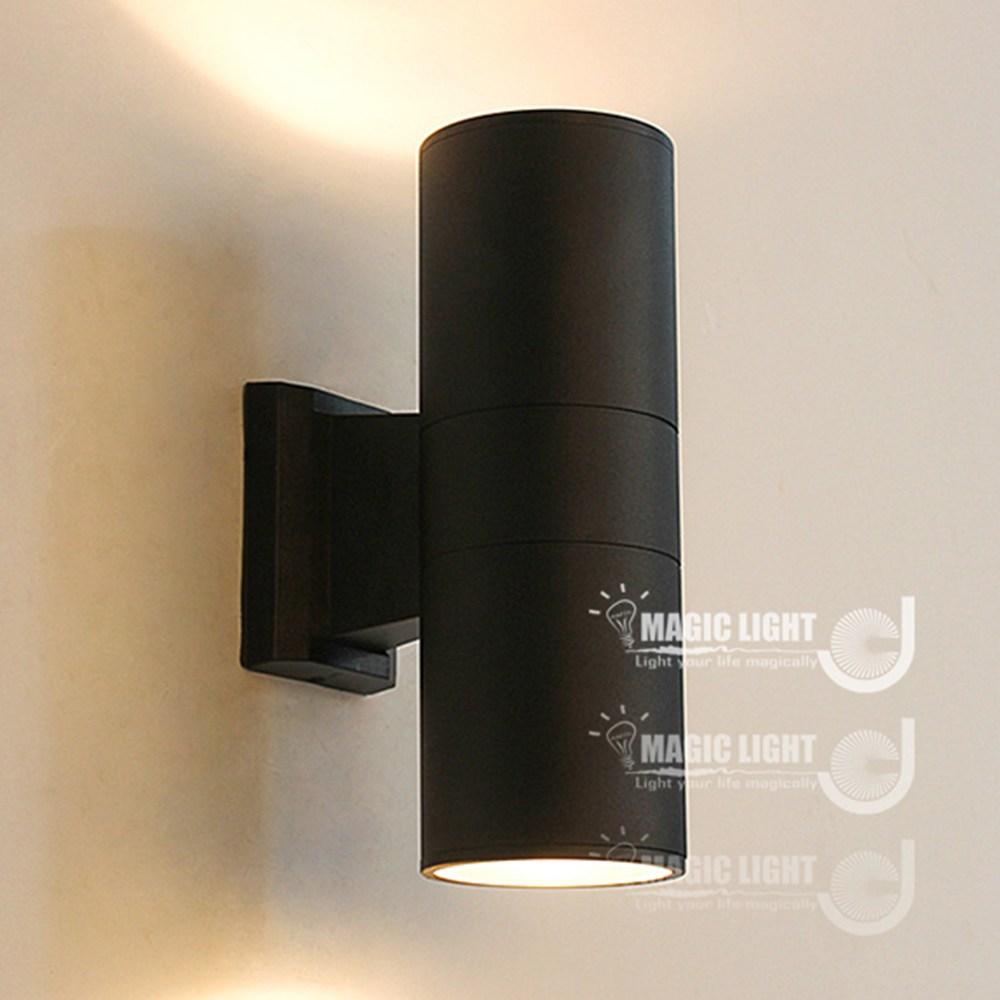 【光的魔法師 Magic Light】戶外燈 上下投光 庭院燈(黑)