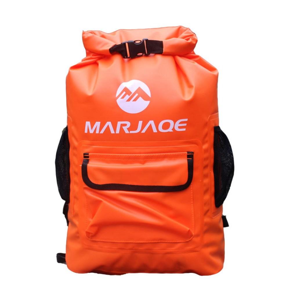 PUSH!戶外休閒用品防水肩背漂流袋溯溪包22L P133橙色橙色