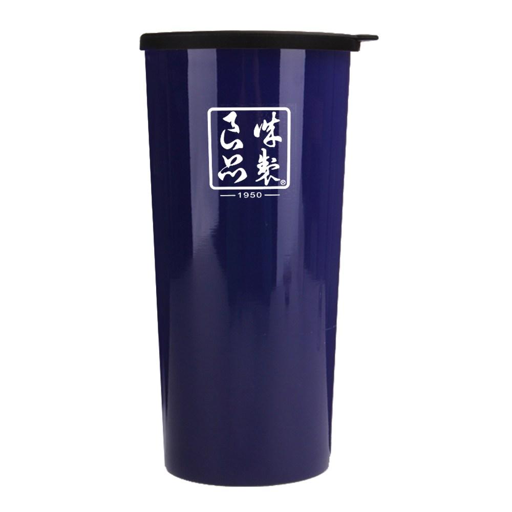 魔法瓶嚴選 304不鏽鋼琺瑯雙層杯450ml-海軍藍