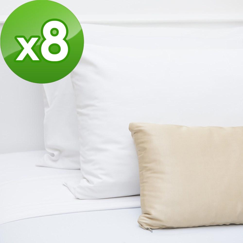 【法式寢飾花季】純品良織-信封式平紋枕套X8件組