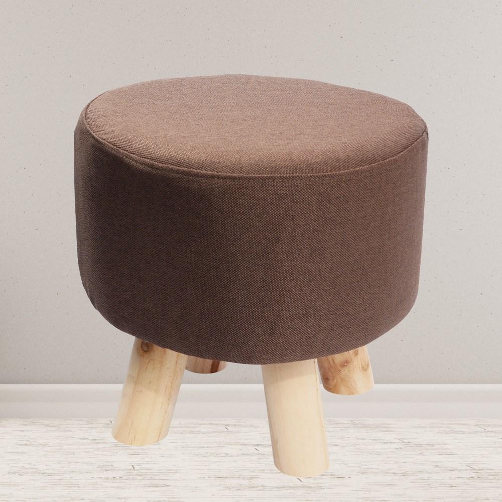 圓形日式客廳沙發換鞋凳-咖啡