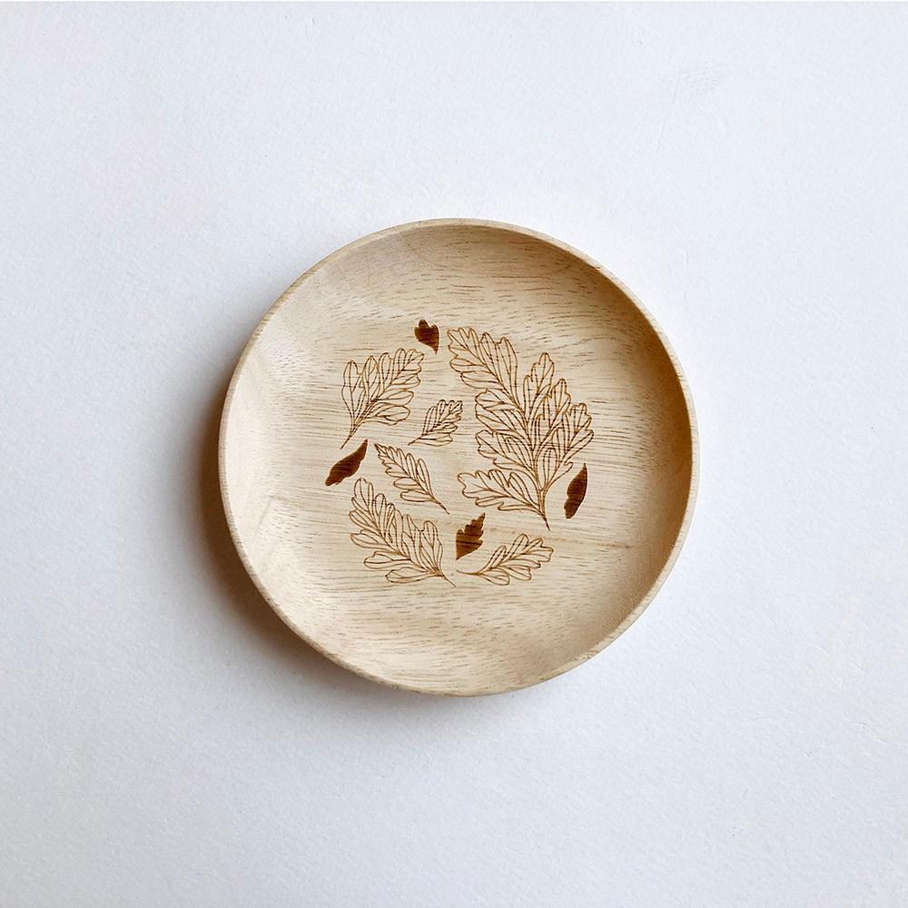 蕨盛木盤-小-兔腳蕨