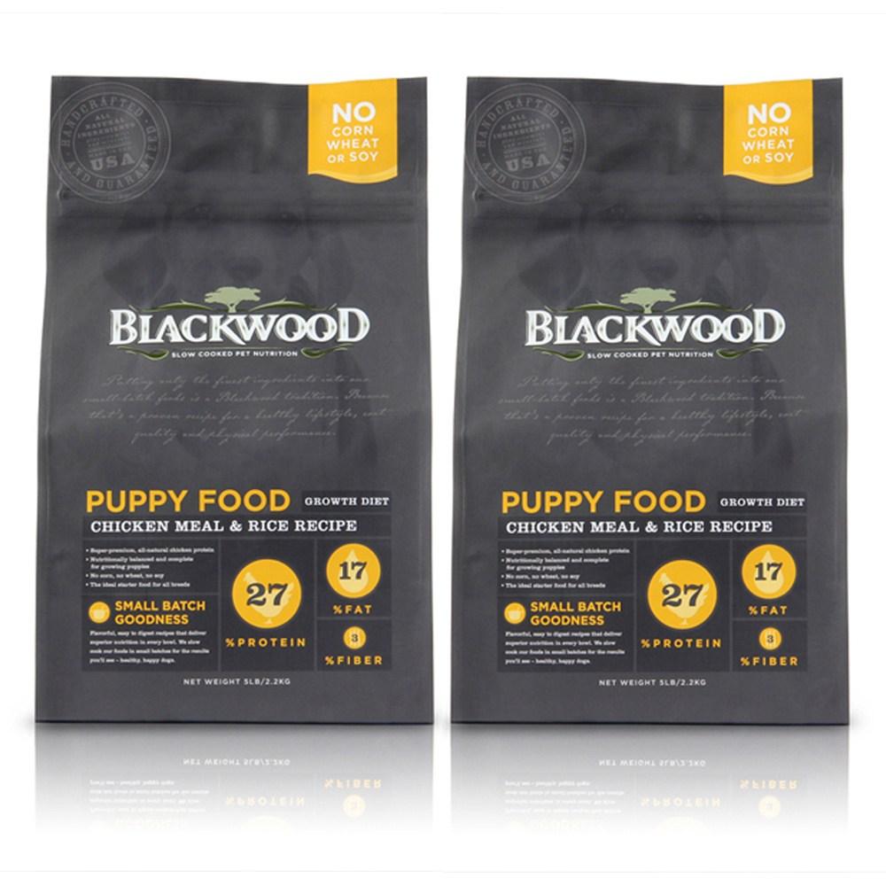 【BLACKWOOD】柏萊富特調幼犬成長配方雞肉+糙米-15磅X2包