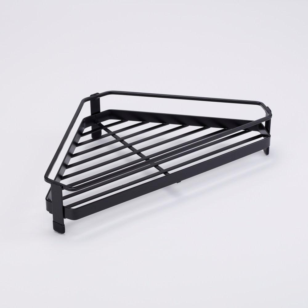 扁鐵單層扇形角落架-黑