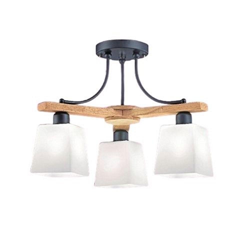 【YPHOME】北歐風半吸頂3燈 簡易更換燈泡 無分段
