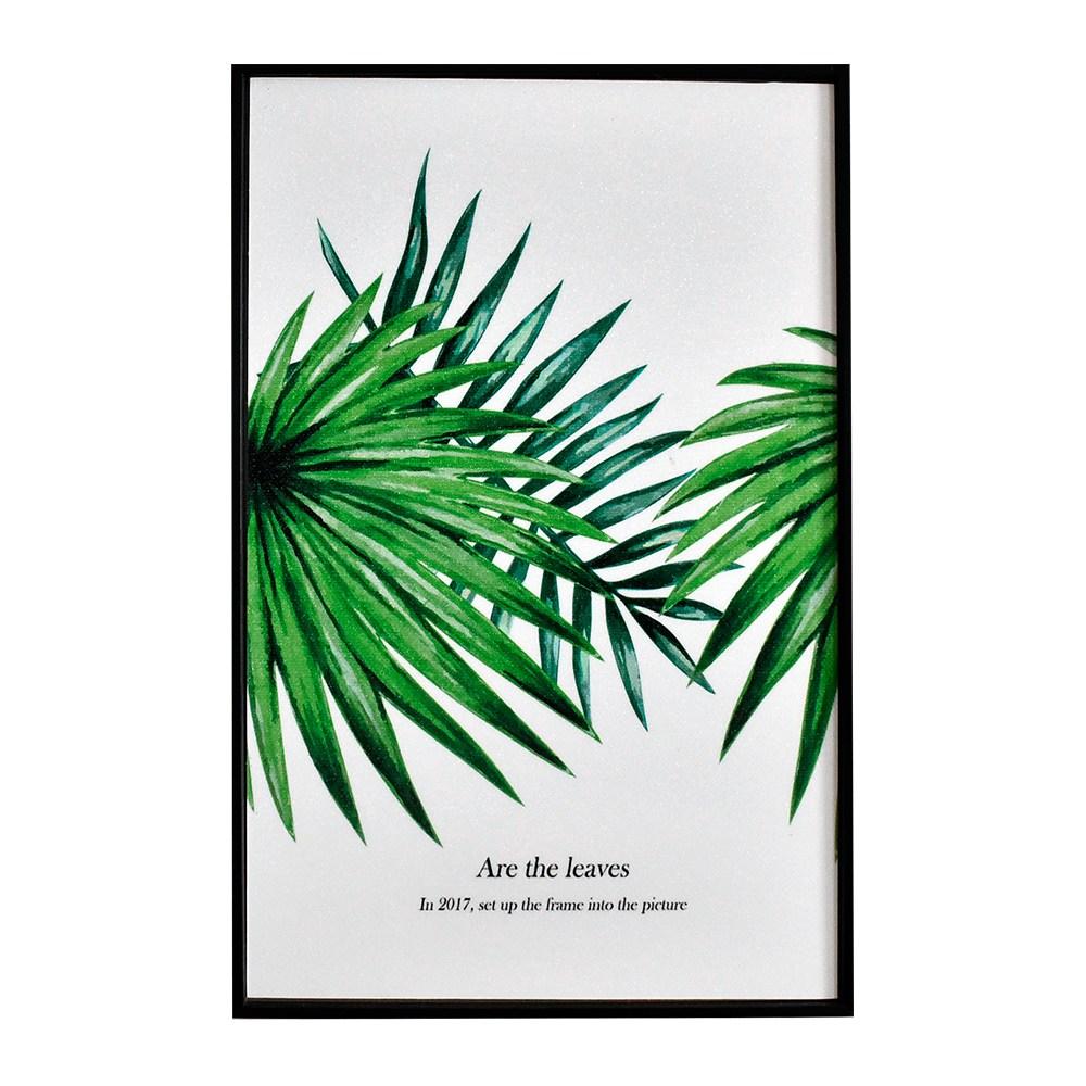 TROMSO北歐生活版畫有框畫-中心綠葉