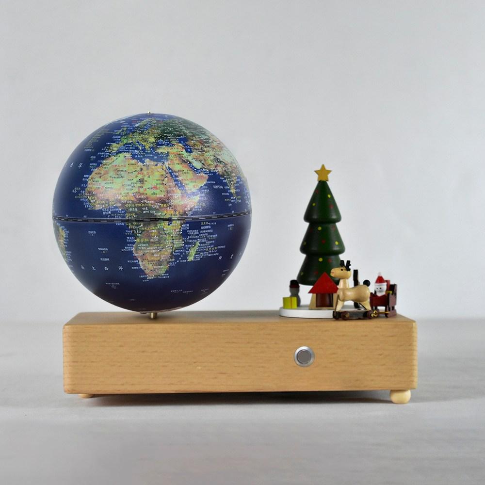 聖誕騎趣地球儀音樂鈴-衛星款