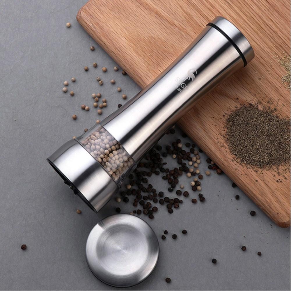 PUSH!餐廚用品不鏽鋼陶瓷芯胡椒粒研磨器花椒研磨瓶調味瓶D128