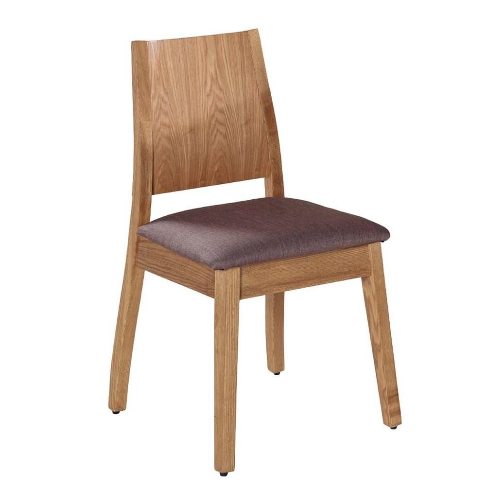 布蘭登胡桃深灰色布餐椅