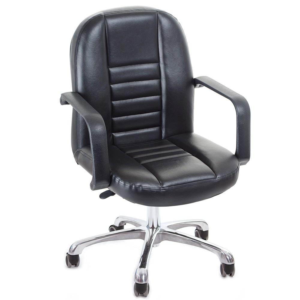 GXG 短背皮面 電腦椅 (鋁合金腳) TW-1023 LU