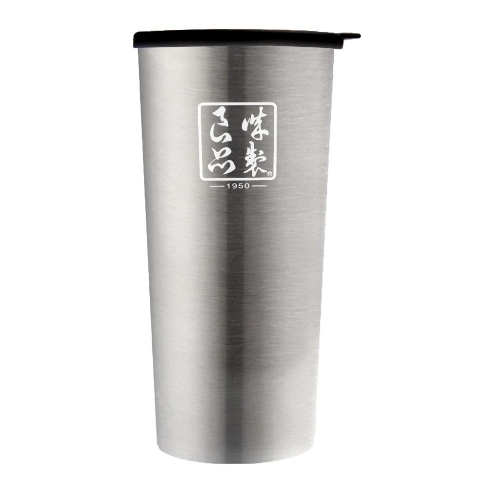 魔法瓶嚴選 304不鏽鋼琺瑯雙層杯450ml-星灰銀