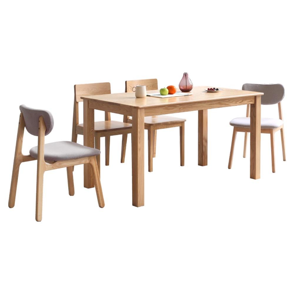 源氏木語鹿特丹橡木1.2M餐桌Y2850+餐椅Y90S04(一桌四椅)