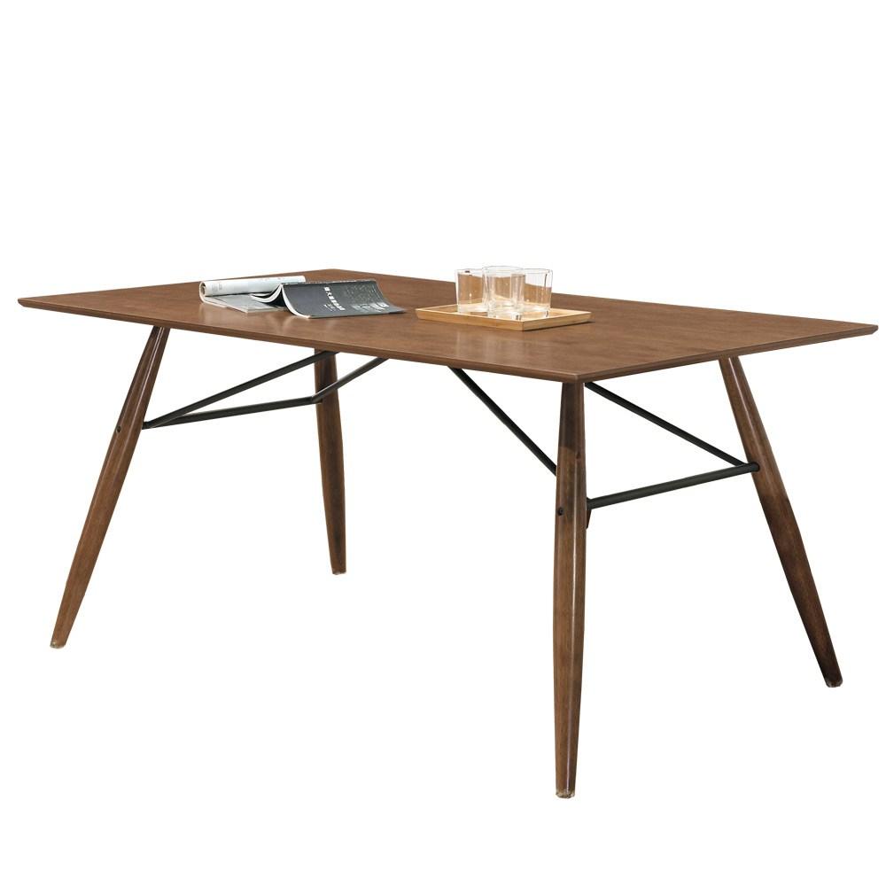 Homelike 柏克斯5尺淺胡桃餐桌-150x90x75cm