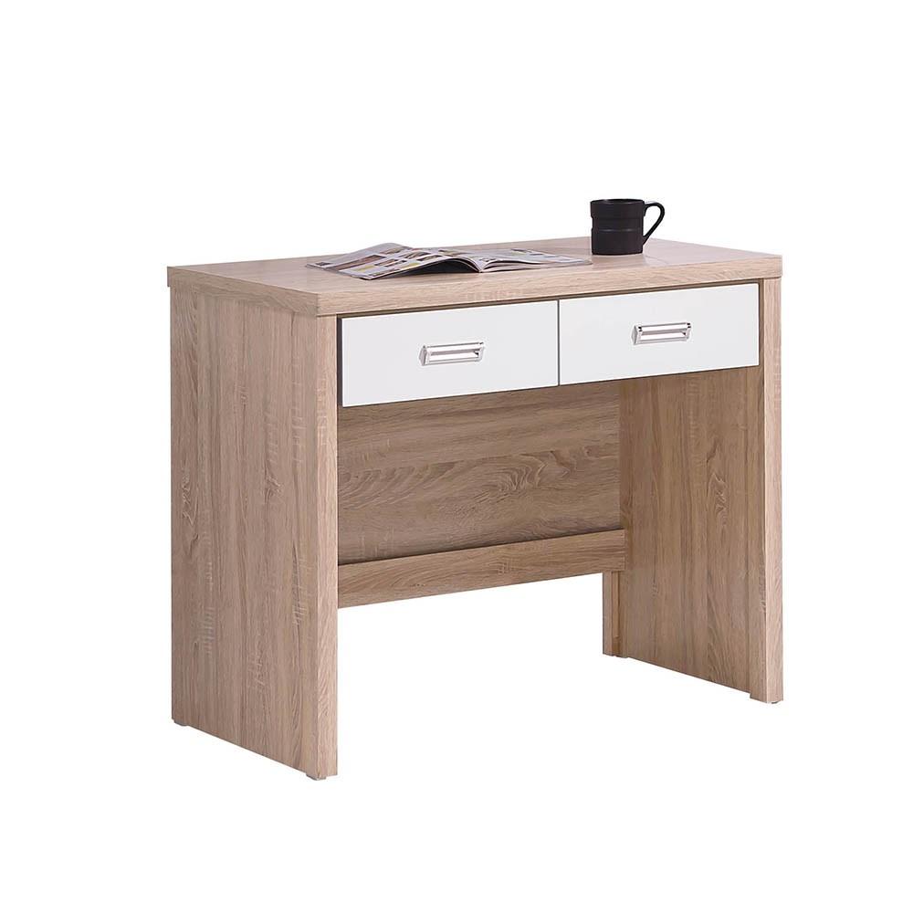 橡木白3尺書桌