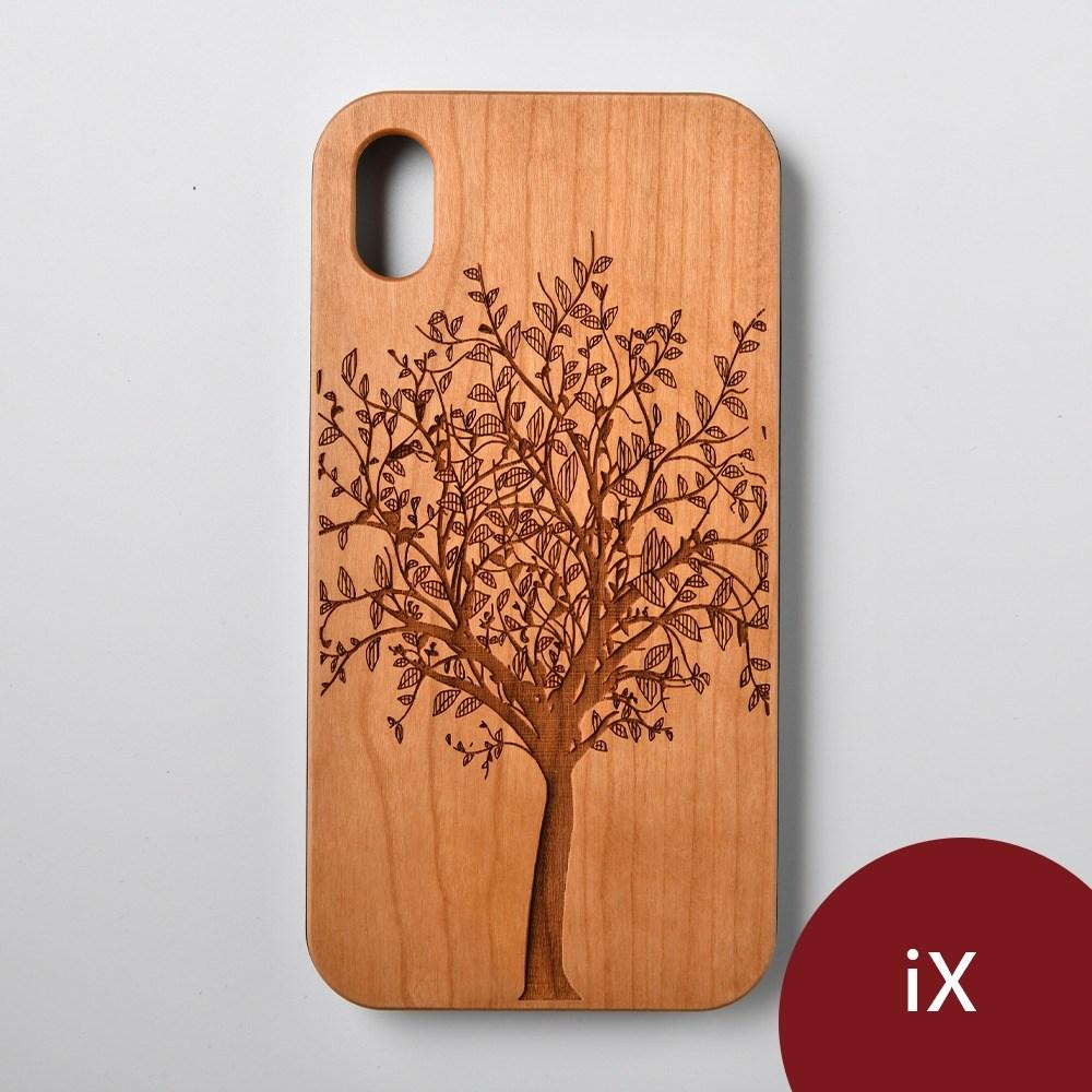 Woodu 木製手機殼 永生樹 iPhone X適用