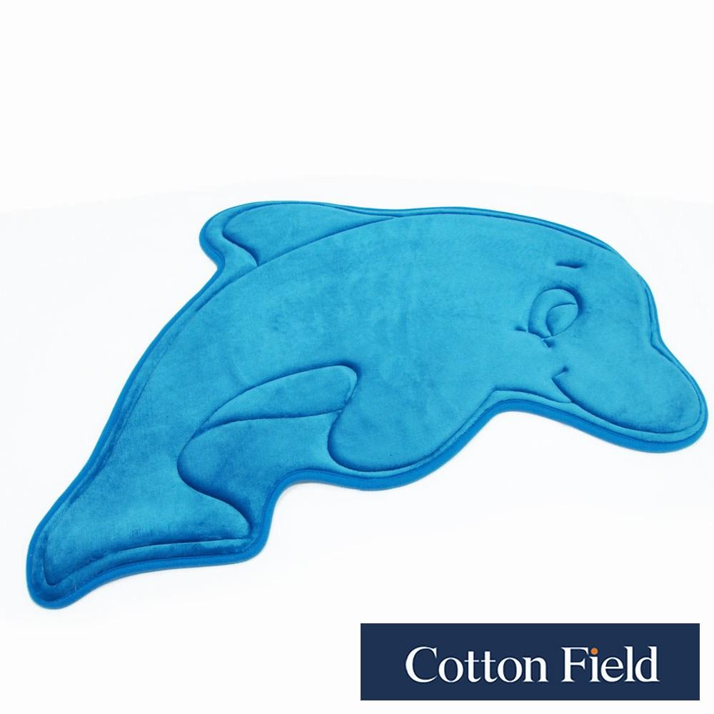 棉花田【海豚】舒壓記憶綿吸水防滑造型踏墊(52x84cm)海豚