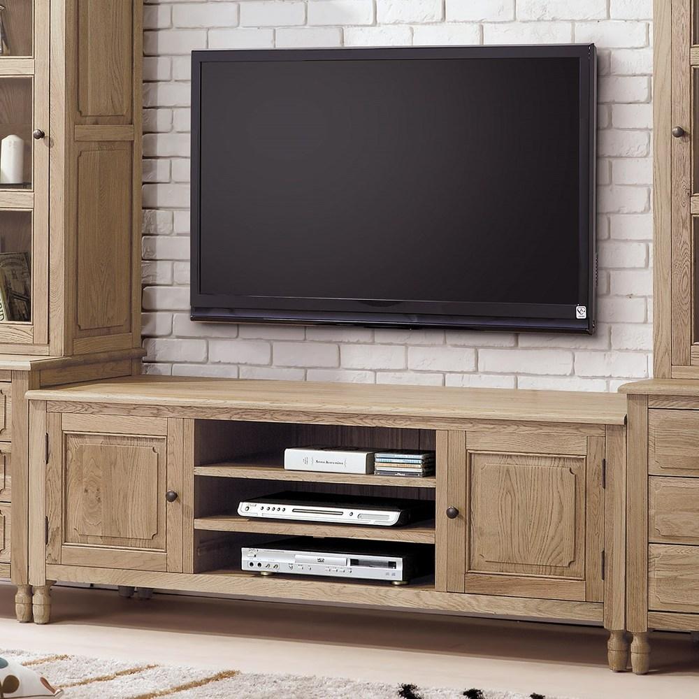 伊利諾白橡全實木5.3尺電視櫃